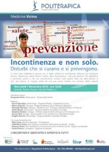 """Read more about the article """"Incontinenza e non solo: disturbi che si curano e si prevengono"""". Incontro pubblico a Seriate, 7.11.2018"""