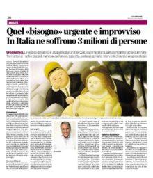 Quando scrive il Dott. Oreste Risi, si può solo imparare. Articolo su L'Eco di Bergamo.