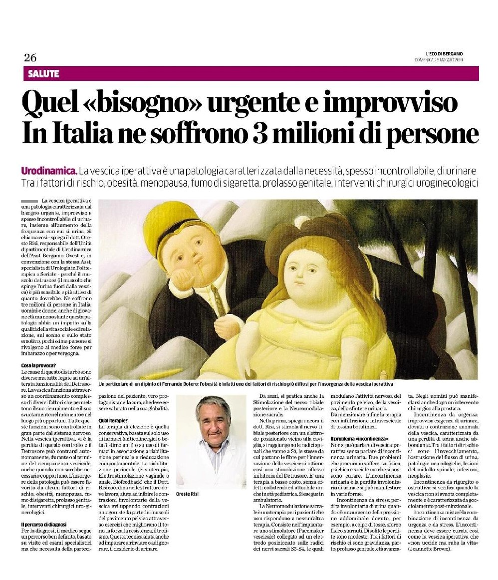 You are currently viewing Quando scrive il Dott. Oreste Risi, si può solo imparare. Articolo su L'Eco di Bergamo.