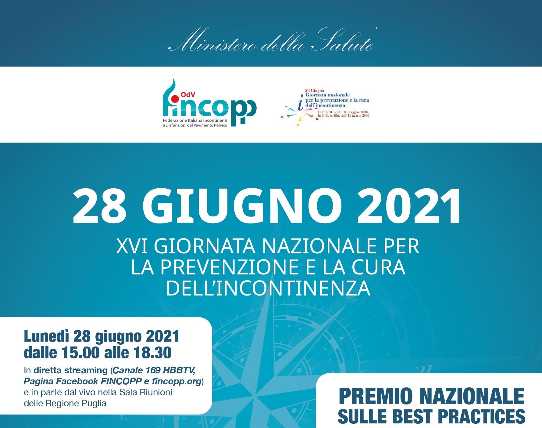 28 Giugno Fincopp e incontinenza in Italia